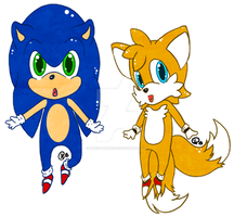 -= Chibi Sonic and Tails =- by Makojupiter