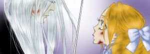 Katerina (child) and Abel (Trinity Blood). Manga by SinnedAjeta