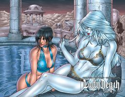 Lady Death 16 wraparound cover by Ric1975