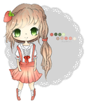 Strawberry Themed Adoptable (CLOSED) by buniiru