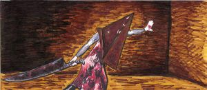 Pyramid Head and greatknife by pyramidrus