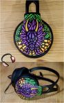 Stained glass dragon handpainted headphones ver 2 by Lipwigs