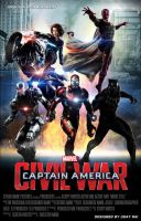 Team Ironman - Captain America : Civil War Poster by iamuday