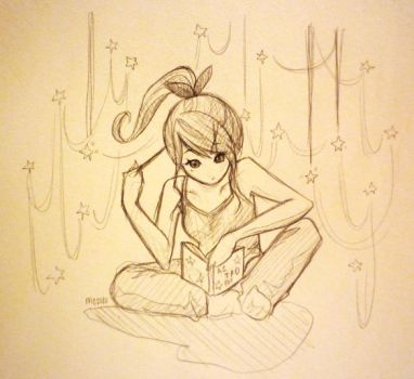 Day 17: Studying Stars by shortpinay