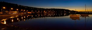 Twilight harbour by mark-flammable