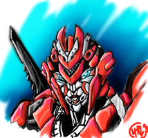 Revenge Arcee Head Study Color by Th4rlDEAL