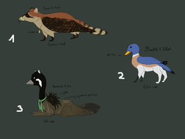 Creature Adopts by CaledonCat