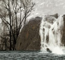 Premade Background Waterfall by lexy-stock
