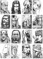 Character Portraits-Full Page by Silent-Black