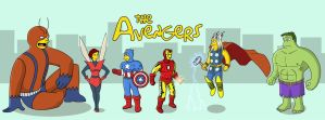 The Avengers Simpson style by RobertLaszloKiss