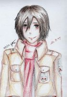 Mikasa (colored pencils practice) by givememypaper1