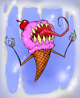 u scream for ice cream! by Bloodlust-Teddy