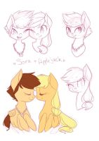 Sketch Page - Sora x Applejack by grandifloru