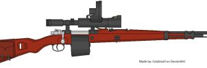 Request: Mauser with drum magazine and IR scope by caiobrazil