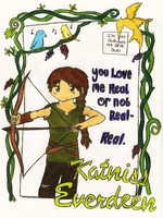 Katniss Everdeen by GoldenPhoenix75
