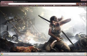 Tomb Raider 2013 Google Chrome layout by vrkm2003