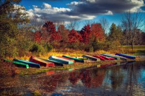 Memorial Lake Autumn 2 by kalika31