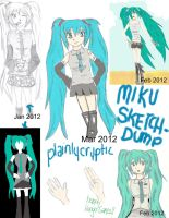 Miku Sketchdump by plainlycryptic