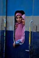 Girls on Train, Cairo by fourthwall