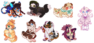 chubby chibis by Fluffily
