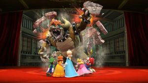 Giga Bowser vs team mario by earthbouds