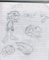 Sonic Sketch by VallanKnight