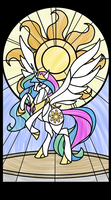 Celestia Stained Glass Window (transparent) by Lampknapp