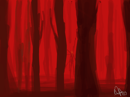 Red Slender Forest by neener-nina