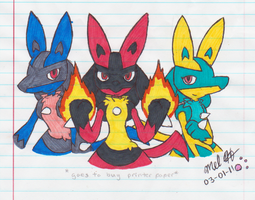 Lucario's Angels by Waffles-n-Ramen