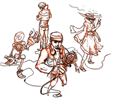 Dressed for Gunfire - The Band (Pre-color) by AkariShinsei