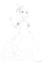 Daughter of Evil Rin Sketch Fail by MMDCousins