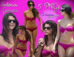 Selena Gomez on Hawaii PNG pack by Ivana-art99