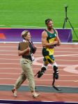 Oscar Pistorius after the T44 400m Race by mystcb