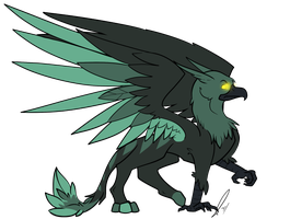 Green Griffin Adopted by jaclynonacloud
