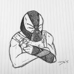 Bane Doodle by DwDrawings