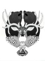 BEAR x DEER x OWL by emimf