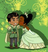 Tiana and Naveen by VanillaDeonna