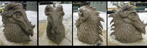 Dragon Bust- Clay by Anastas-C
