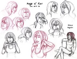 Page of Kat by leighanief