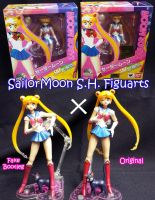 SH FIGUARTS - Sailor Moon Bootleg x Original by renataeternal