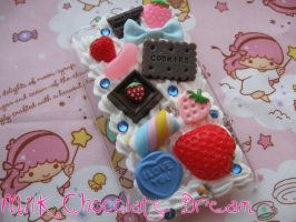 Sweet Strawberry Decoden Phone Case by Frainy