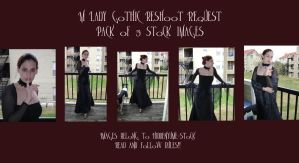 M Lady Gothic Reshoot Pack by HiddenYume-stock