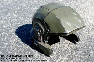 Halo 4 Marine Helmet Replica by JohnsonArms