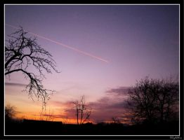 SunSet of airplanes by Midnight3Flame