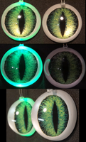 4cm 3D Green Sergal Eyes for Axyz by DreamVisionCreations
