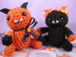 Halloween Monster Buddies by AmiTownCreatures