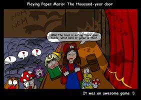 Playing Paper Mario: The Thousand-year door by fiori-party