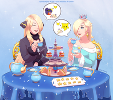 Commission: Cynthia and Rosalina by QuantumJinx