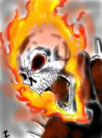 Ghost Rider Coloring by ZakZakXP