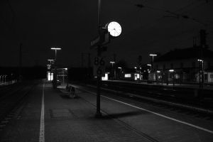 Alone at a Train Station by Atisuto93